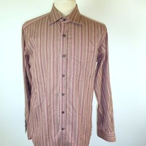 PAUL SMITH ITALY BROWN Purple stripe Shirt 16